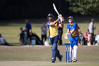 Ravi Bopara of Essex goes big and straight during Upminster CC vs Essex CCC, Benefit Match Cricket at Upminster Park on 8th September 2019