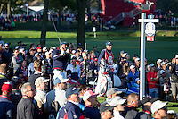 Phil Mickelson (Team USA) on the 6th tee during the Saturday morning Foursomes at the Ryder Cup, Hazeltine national Golf Club, Chaska, Minnesota, USA.  01/10/2016<br /> Picture: Golffile | Fran Caffrey<br /> <br /> <br /> All photo usage must carry mandatory copyright credit (&copy; Golffile | Fran Caffrey)