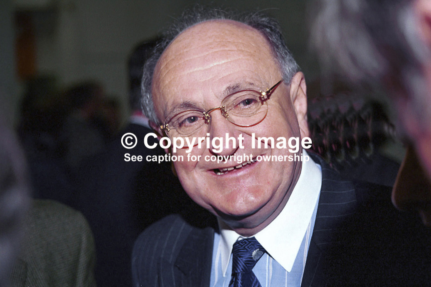 Gerry Collins, Fianna Fail MEP, Rep of Ireland, Ref: 199811054.<br />