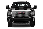 Car photography straight front view of a 2020 GMC Sierra-2500-HD Denali 4 Door Pick-up Front View