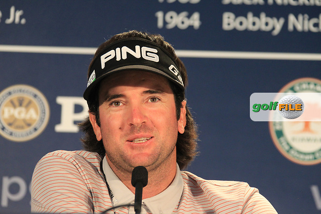 Masters Champion Bubba Watson (USA) in the interview room during Tuesday's practice day of the 2012 PGA Golf Championshipl at The Ocean Course, Kiawah Island, South Carolina, USA 7th August 2012 (Photo Eoin Clarke/www.golffile.ie)