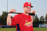 Batavia Muckdogs infielder Joey Bergman poses for a photo in a Cardinals uniform before a game vs. the State College Spikes at Dwyer Stadium in Batavia, New York July 17, 2010.   Batavia defeated State College 12-11 in 11 innings.  Photo By Mike Janes/Four Seam Images