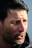 Lincoln City manager Danny Cowley during the pre-match warm-up<br /> <br /> Photographer Chris Vaughan/CameraSport<br /> <br /> The EFL Sky Bet League Two - Lincoln City v Mansfield Town - Saturday 24th November 2018 - Sincil Bank - Lincoln<br /> <br /> World Copyright &copy; 2018 CameraSport. All rights reserved. 43 Linden Ave. Countesthorpe. Leicester. England. LE8 5PG - Tel: +44 (0) 116 277 4147 - admin@camerasport.com - www.camerasport.com