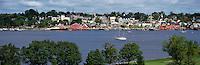 Old Town Lunenburg, a UNESCO World Heritage Site, NS, Nova Scotia, Canada - Lunenburg Harbour / Harbor - Panoramic View