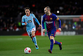 11th January 2018, Camp Nou, Barcelona, Spain; Copa del Rey football, round of 16, 2nd leg, Barcelona versus Celta Vigo; Andres Iniesta of FC Barcelona controls the ball as he powers into the box