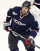 Kyle Huson (UConn - 4) - The Boston College Eagles defeated the visiting University of Connecticut Huskies 3-2 on Saturday, January 24, 2015, at Kelley Rink in Conte Forum in Chestnut Hill, Massachusetts.