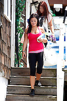 J WoWW and Deena pictured during filming on The Jersey Shore Show season six in Seaside Heights, New Jersey on July 5, 2012  &copy; Star Shooter / MediaPunchInc *NORTEPHOTO.COM*<br />