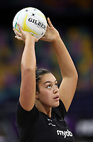 07.10.2018 Silver Ferns Maia Wilson warms up prior to the Silver Ferns v Australia netball test match at the Brisbane Entertainment Centre in Brisbane. Mandatory Photo Credit ©Michael Bradley.