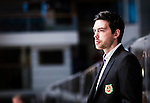 Stockholm 2014-09-27 Ishockey Hockeyallsvenskan AIK - Mora IK :  <br /> Moras huvudtr&auml;nare tr&auml;nare Jeremy Colliton <br /> (Foto: Kenta J&ouml;nsson) Nyckelord:  AIK Gnaget Hockeyallsvenskan Allsvenskan Hovet Johanneshovs Isstadion Mora MIK  portr&auml;tt portrait