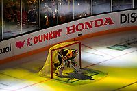 June 6, 2019: Boston Bruins goaltender Tuukka Rask (40) in net before game 5 of the NHL Stanley Cup Finals between the St Louis Blues and the Boston Bruins held at TD Garden, in Boston, Mass. The Blues defeat the Bruins 2-1 in regulation time. Eric Canha/CSM