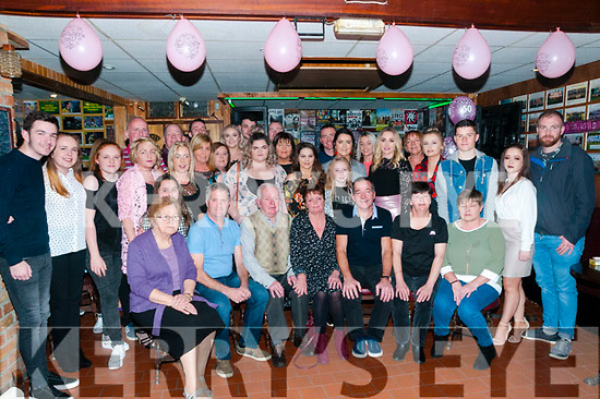 50th Birthday:Carmel Cananvan, Listowel, fourth from left seated celebrating her 50th birthday with family & friends at a surprise party at Mike the Pies Bar, Listowel on Saturday night last.