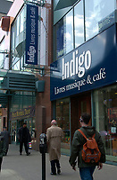 Montreal, April 19, 2001<br /> Pedestrians walk in front of the Indigo book store on Ste-Catherine West Street in downtown Montreal, CANADA, April 19, 2001<br /> After the approval of it's merging with Chapters book librairies, Indigo  will close 23 librairies and wont be opening new ones for the next 2 years<br /> Photo by Pierre Roussel / Liaison<br /> NOTE :  Uncorrected Nikon D-1 JPEG saved as Adobe 1998 RGB color space