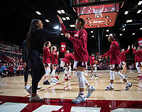 Stanford, CA - January 24, 2020: Anna Wilson, DiJonai Carrington at Maples Pavilion. The Stanford Cardinal defeated the Colorado Buffaloes in overtime, 76-68.