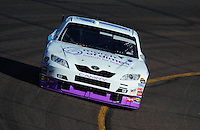 Apr 11, 2008; Avondale, AZ, USA; NASCAR Sprint Cup Series driver Denny Hamlin during practice for the Subway Fresh Fit 500 at Phoenix International Raceway. Mandatory Credit: Mark J. Rebilas-