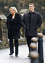 15/1/04          Copyright Pic : James Stewart.File Name : jspa01_doyle_funeralA.STEPHEN HENDRY AND HHIS WIFE MANDY  ARRIVE AT THE FUNERAL OF IRENE DOYLE, THE WIFE OF110SPORT BOSS IAIN DOYLE, WHO DIED OF WHILST IN SPAIN.... DOYLE'S 110SPORT LTD MANAGES SOME OF THE WORLD'S TOP SNOOKER STARS INCLUDING SCOTLAND'S STEPHEN HENDRY, WALES' MARK WILLIAMS AND IRELAND'S KEN DOHERTY....(see copy from George Mair / Tim Bugler).....Payment should be made to :-.James Stewart Photo Agency, 19 Carronlea Drive, Falkirk. FK2 8DN      Vat Reg No. 607 6932 25.Office     : +44 (0)1324 570906     .Mobile  : +44 (0)7721 416997.Fax         :  +44 (0)1324 570906.E-mail  :  jim@jspa.co.uk.If you require further information then contact Jim Stewart on any of the numbers above.........