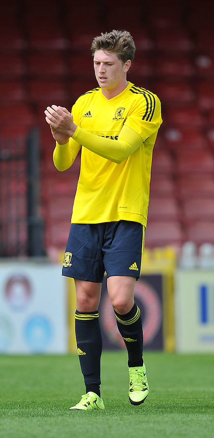 Photographer Dave Howarth/CameraSport<br /> <br /> Football - Pre-Season - The Football League - York City v Middlesbrough - Saturday 11th July 2015 - Bootham Crescent - York<br /> <br /> &Acirc;&copy; CameraSport - 43 Linden Ave. Countesthorpe. Leicester. England. LE8 5PG - Tel: +44 (0) 116 277 4147 - admin@camerasport.com - www.camerasport.com