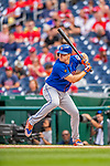 22 September 2018: New York Mets outfielder Jay Bruce at bat against the Washington Nationals at Nationals Park in Washington, DC. The Nationals shut out the Mets 6-0 in the 3rd game of their 4-game series. Mandatory Credit: Ed Wolfstein Photo *** RAW (NEF) Image File Available ***