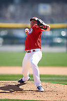 Buffalo Bisons pitcher Preston Guilmet (36) delivers a pitch during a game against the Louisville Bats on May 2, 2015 at Coca-Cola Field in Buffalo, New York.  Louisville defeated Buffalo 5-2.  (Mike Janes/Four Seam Images)