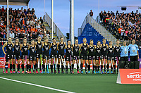 Blacksticks anthem during the World Hockey League final between the Netherlands and New Zealand. North Harbour Hockey Stadium, Auckland, New Zealand. Sunday 26 November 2017. Photo:Simon Watts / www.bwmedia.co.nz