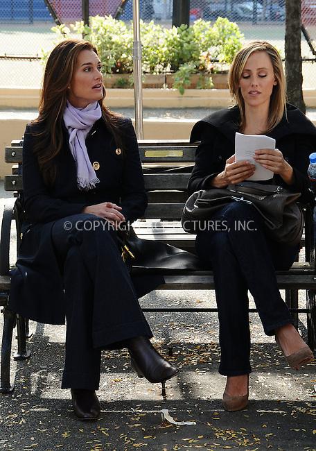 WWW.ACEPIXS.COM . . . . .  ....October 14 2008, New York City....Actresses Brooke Shields and Kim Ravers were on the set of the TV show 'Lipstick Jungle' on October 14 2008 in New York City....Please byline: AJ Sokalner - ACEPIXS.COM..... *** ***..Ace Pictures, Inc:  ..te: (646) 769 0430..e-mail: info@acepixs.com..web: http://www.acepixs.com