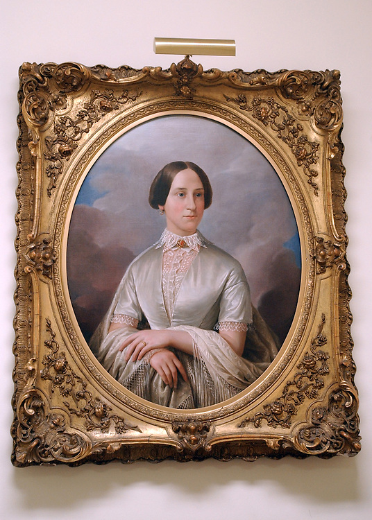 """Eveline Fessenden Freeman,"" painted by Constantino Brumidi hangs in the office of Senate Curator Barbara Wolanin."