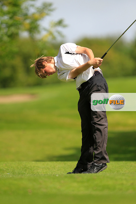 Louis O'Hara (Athenry) on the 11th tee during the Irish Boys Under 15 Amateur Open Championship Round 2 at the West Waterford Golf Club on Wednesday 21st August 2013 <br /> Picture:  Thos Caffrey/ www.golffile.ie