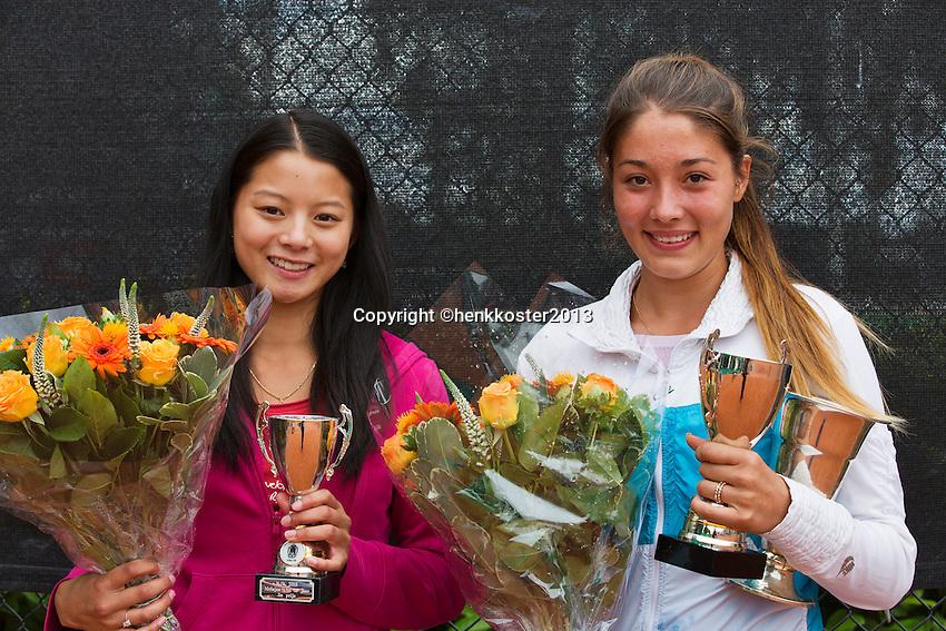 10-08-13, Netherlands, Rotterdam,  TV Victoria, Tennis, NJK 2013, National Junior Tennis Championships 2013,  Prize giving, <br /> <br /> Photo: Henk Koster