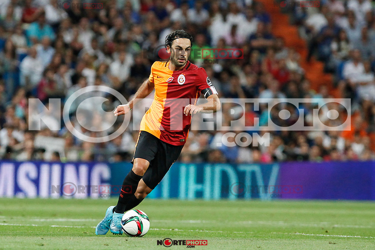 Galatasaray´s Selcuk Inan during Santiago Bernabeu Trophy match at Santiago Bernabeu stadium in Madrid, Spain. August 18, 2015. (ALTERPHOTOS/Victor Blanco)