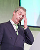 Grassroots Out Public Rally Campaign event at Queen Elizabeth Conference Centre, London, Great Britain <br /> 19th February 2016 <br /> <br /> <br /> Nigel Farage MEP <br /> leader of the UKIP party <br /> speaks at rally <br /> <br /> Photograph by Elliott Franks <br /> Image licensed to Elliott Franks Photography Services