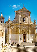 Malta, Insel Gozo, Victoria: Kathedrale Mariae Himmelfahrt der Zitadelle von Victoria | Malta, Island Gozo, Victoria: Cathedral of the Assumption is a Roman Catholic cathedral in the Cittadella of Victoria
