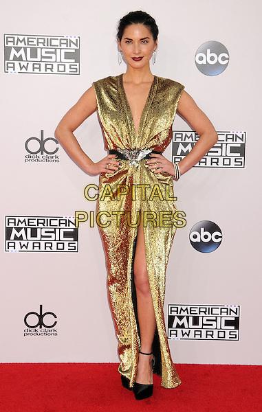 23 November 2014 - Los Angeles, California - Olivia Munn. American Music Awards 2014 - Arrivals held at Nokia Theatre LA Live. <br /> CAP/ADM/BP<br /> &copy;BP/ADM/Capital Pictures