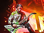 Jason Hook of Five Finger Death Punch performs during the Trespass America Festival at Jacobs Pavilion at Nautica in Cleveland, Ohio.