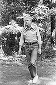 United States President Jimmy Carter takes a relaxing stroll in the woods at Camp David, near Thurmont, Maryland during a break from talks on peace in the Middle East with Prime Minister Menachem Begin of Israel and President Anwar Sadat of Egypt on September 10, 1978. .Credit: White House via CNP