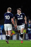 Sam Hidalgo-Clyne of Scotland comes on to replace Finn Russell of Scotland