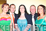 STRAND: Having a godd time at the Lee Starnd Social in the Brandon Hotel, Tralee on Saturday night. L-r: Ann Marie and Mike Dineen, Paula O'Sulivan, Mark and Lucy  Godley (Ballyheigue)..................