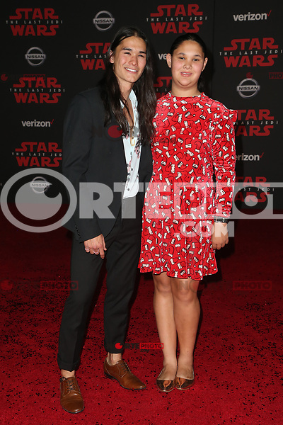 LOS ANGELES, CA - DECEMBER 9: Boo Boo Stewart, Maegan Stewart, at Premiere Of Disney Pictures And Lucasfilm's 'Star Wars: The Last Jedi' at Shrine Auditorium in Los Angeles, California on December 9, 2017. Credit: Faye Sadou/MediaPunch /NortePhoto.com NORTEPHOTOMEXICO