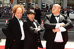 "SEAN HAYES, CHRIS DIAMANTOPOULOS, WILL SASSO. World Premiere of ""The Three Stooges: The Movie,"" at Grauman's Chinese Theatre in Hollywood. Hollywood, CA USA. April 7, 2012.©CelphImage"