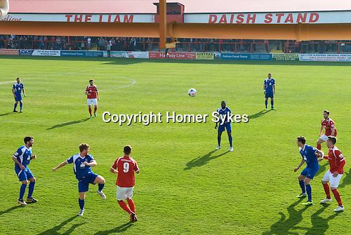 The Fleet football stadium, The Liam Daish Stand.  Ebbsfleet v Tunbridge. Ebbsfleet Valley Kent UK. 2014