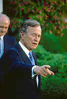 ***FILE PHOTO*** George H.W. Bush Has Passed Away<br /> Washington, DC. 1990<br /> President George H.W. Bush portraits.<br /> <br /> CAP/MPI/MRN<br /> &copy;MRN/MPI/Capital Pictures