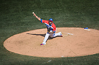 Joe Clon pitcher relevo Criollos de Caguas de Puerto Rico,  durante el partido de beisbol de la Serie del Caribe contra los Alazanes de Gamma de Cuba en estadio de los Charros de Jalisco en Guadalajara, México, Martes 6 feb 2018.  (Foto: AP/Luis Gutierrez)