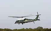 Marine One carries the First Family off Martha's Vineyard, Massachusetts, Sunday, August 29, 2010. The First Family completed their 10-day vacation on Martha's Vineyard and were flying to Cape Cod to board Air Force One for New Orleans where the President is giving a speech today on the fifth year anniversary of Hurricane Katrina..Credit: Vincent DeWitt - Pool via CNP