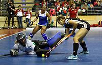 goalkeeper Petro STOFFBERG, Marie Maevers /   /        /   <br /> / Sport / Hockey Hnhockey / World Championships Weltmeisterschaft Damen /  2017/2018 / 07.02.2018 / GER BRGermany vs. Namibia  *** Local Caption *** © pixathlon<br /> Contact: +49-40-22 63 02 60 , info@pixathlon.de