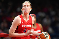 Washington, DC - July 13, 2019: Washington Mystics center Emma Meesseman (33) drives to the basket during game between Las Vegas Aces and Washington Mystics at the Entertainment & Sports Arena in Washington, DC. The Aces defeated the Mystics 81-85. (Photo by Phil Peters/Media Images International)