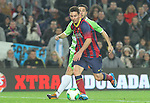 08.01.2014 Barcelona, Spain. Spanish Cup 1/8 Final. Picture show Leo Messi  in action during game between FC Barcelona against Getafe at Camp Nou