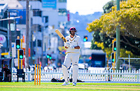 James Baker bats on day two of the Plunket Shield cricket match between Wellington Firebirds and Northern Districts in Wellington, New Zealand on Monday, 26 March 2018. Photo: Dave Lintott / lintottphoto.co.nz