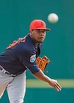 5 March 2016: Detroit Tigers pitcher Jose Valdez on the mound during a Spring Training pre-season game against the Washington Nationals at Space Coast Stadium in Viera, Florida. The Tigers fell to the Nationals 8-4 in Grapefruit League play. Mandatory Credit: Ed Wolfstein Photo *** RAW (NEF) Image File Available ***
