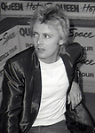 """Roger Taylor of Queen attend Queen Press Conference for """"Hot Space"""" at Crazy Eddie's on July 27, 1982  in New York City."""