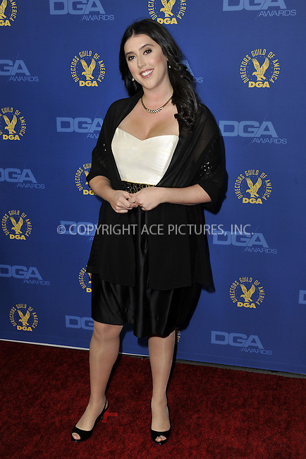 WWW.ACEPIXS.COM......February 2, 2013, Los Angeles, CA.....Alison Klayman arriving at the 65th annual Directors Guild Of America Awards at The Ray Dolby Ballroom on February 2, 2013 in Hollywood, California.........By Line: Peter West/ACE Pictures....ACE Pictures, Inc..Tel: 646 769 0430..Email: info@acepixs.com