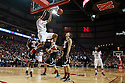 November 30, 2013: Walter Pitchford (35) of the Nebraska Cornhuskers makes a dunk against the Northern Illinois Huskies at the Pinnacle Bank Areana, Lincoln, NE. Nebraska defeated Northern Illinois 63 to 58.