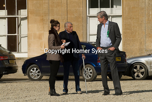 Badminton Horse Trials Gloucestershire UK. David Somerset the Duke of Beaufort and friends.